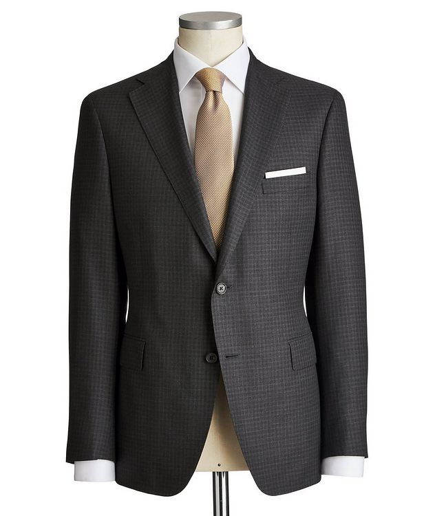 Madison Checkered Wool-Silk Suit picture 1