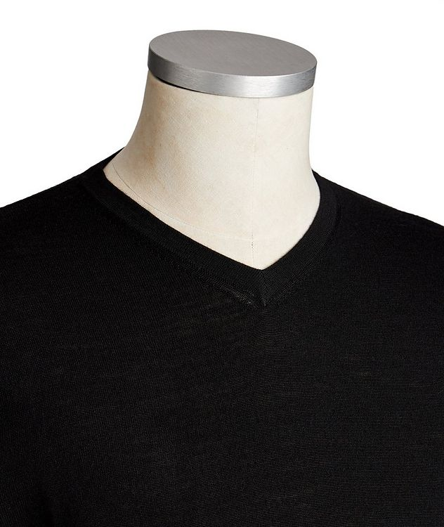 V-Neck Extra-Fine Merino Wool Sweater picture 2
