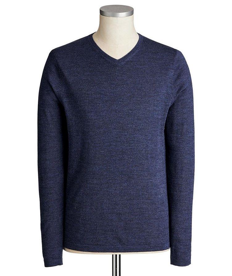 V-Neck Extra-Fine Merino Wool Sweater image 0