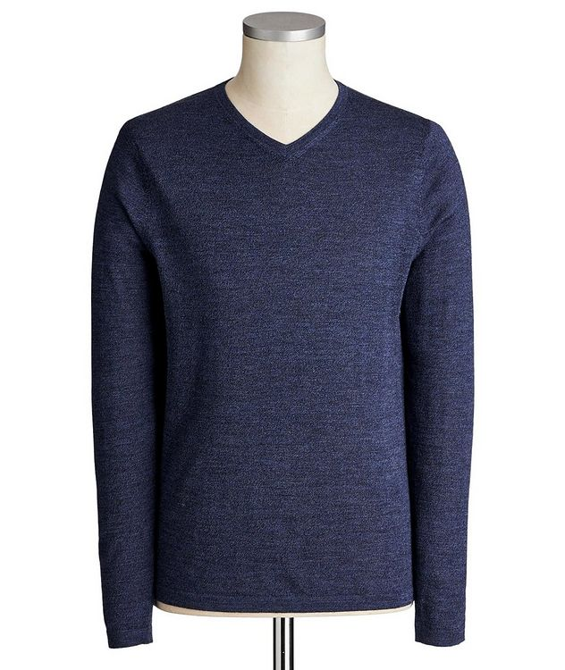 V-Neck Extra-Fine Merino Wool Sweater picture 1