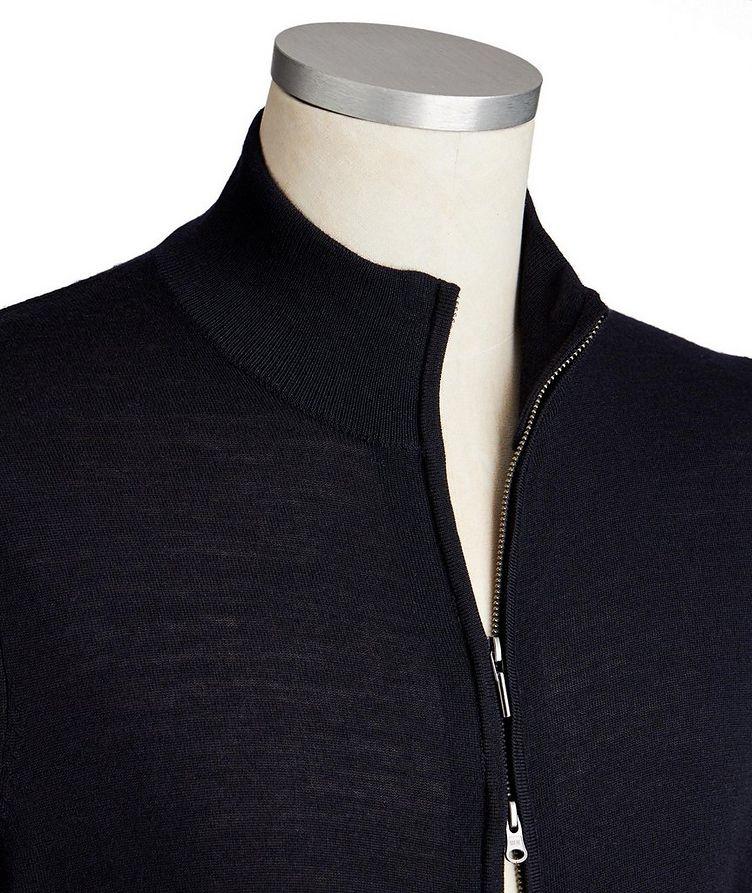 Cardigan en laine mérinos extrafine à glissière image 1
