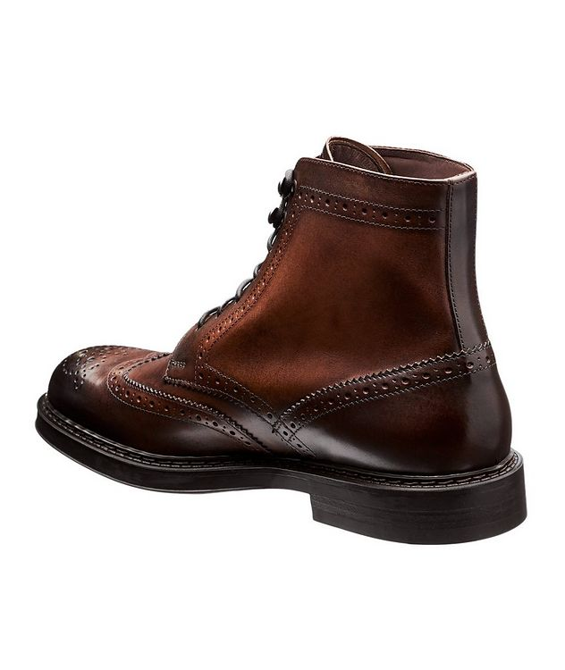 Leather Wingtip Boots picture 2