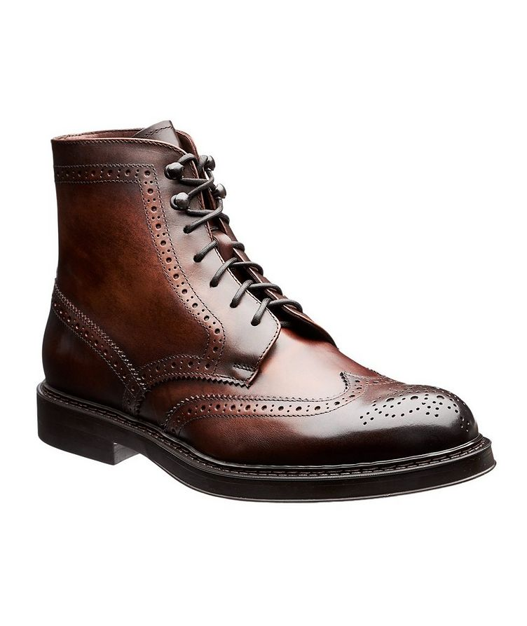 Leather Wingtip Boots image 0