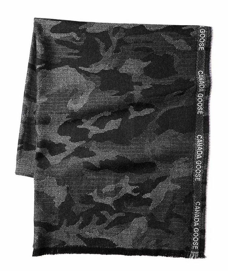 Camouflage Merino Wool Scarf image 0