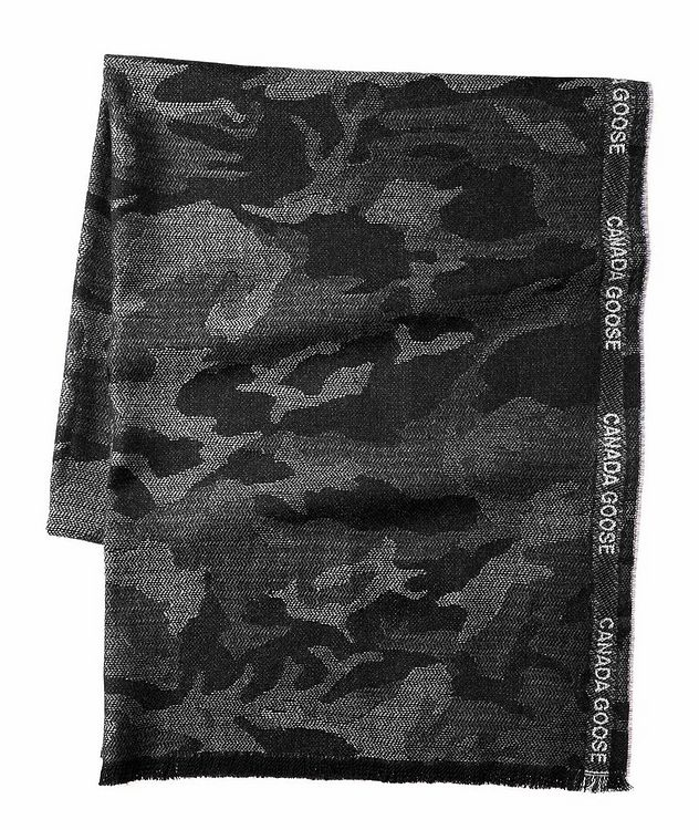 Camouflage Merino Wool Scarf picture 1