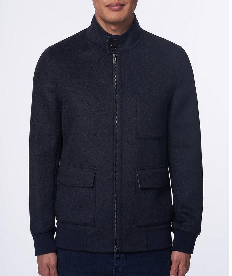 Zip-Up Wool-Cashmere Bomber Jacket image 1