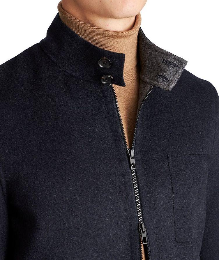 Zip-Up Wool-Cashmere Bomber Jacket image 2
