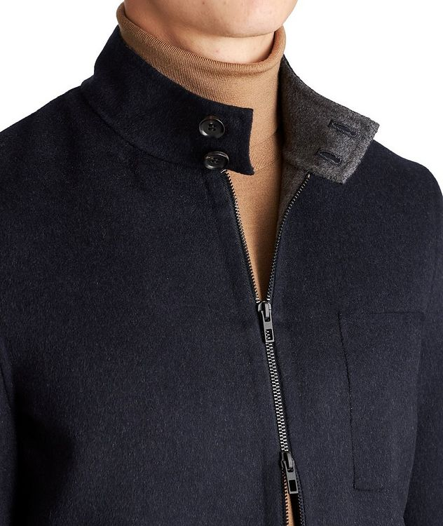 Zip-Up Wool-Cashmere Bomber Jacket picture 3
