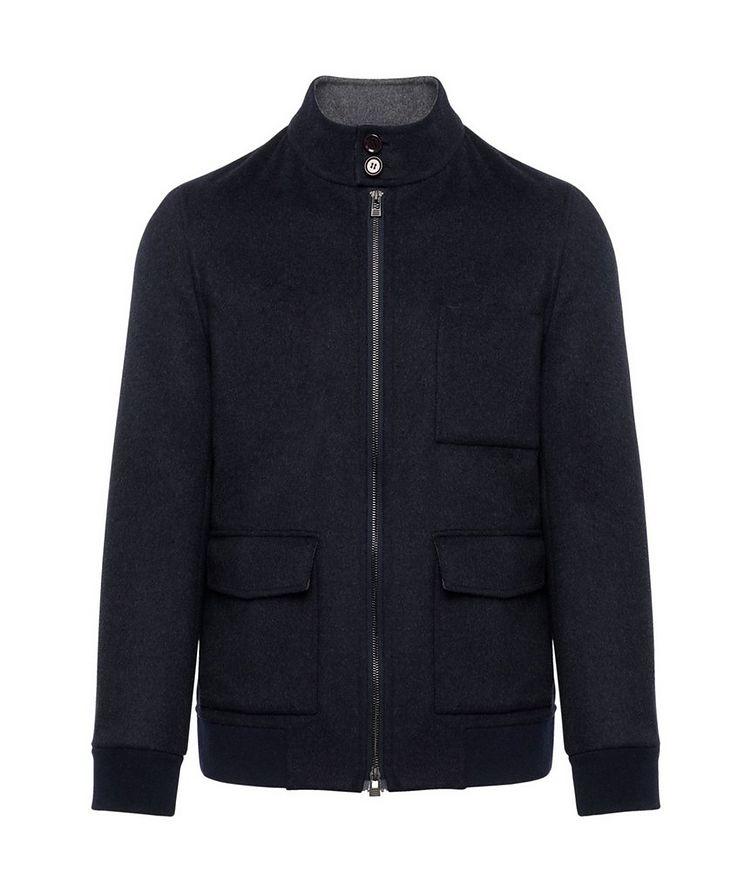 Zip-Up Wool-Cashmere Bomber Jacket image 0