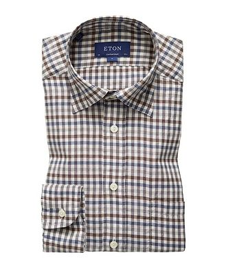 Eton Soft Contemporary Fit Gingham-Checked Shirt