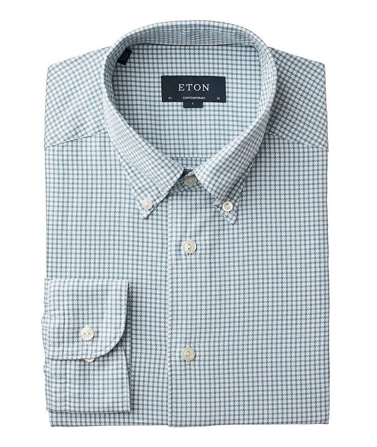 Soft Contemporary Fit Houndstooth Shirt image 0