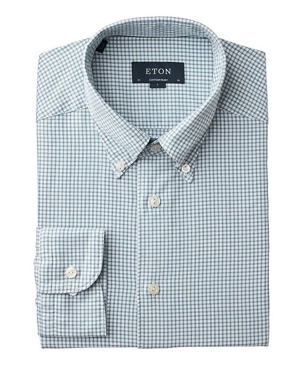 Soft Contemporary Fit Houndstooth Shirt picture 1