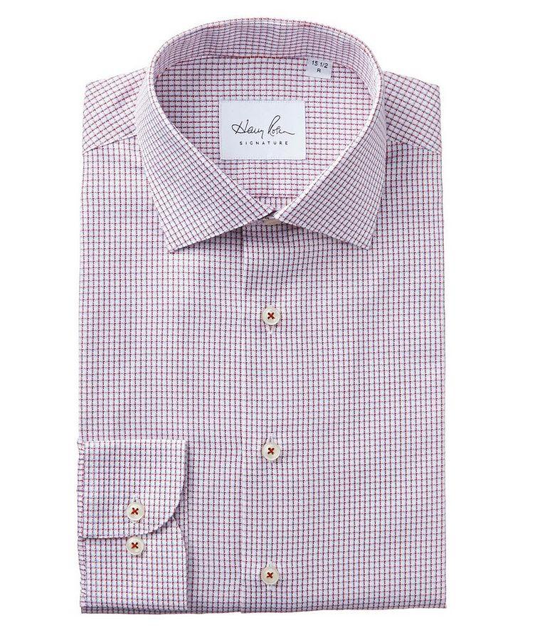 Chemise habillée quadrillée en coton image 0