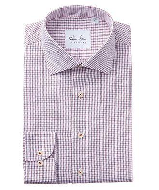 Harry Rosen Signature Grid-Checked Cotton Dress Shirt