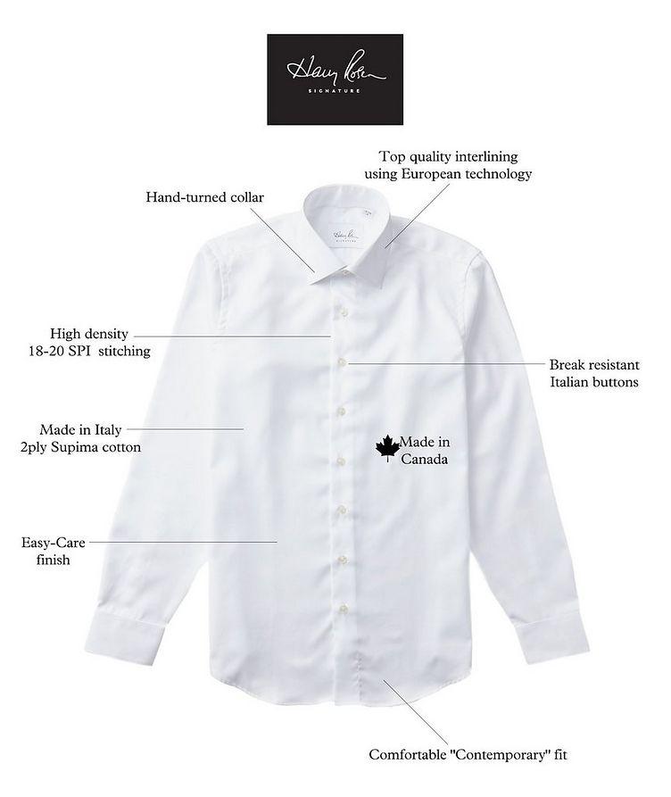 Bird's Eye-Printed Cotton Dress Shirt image 2