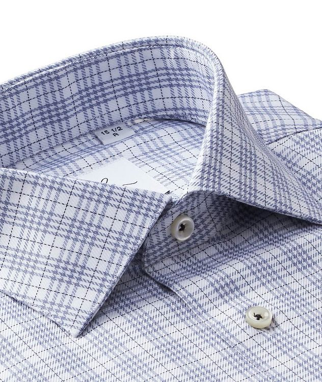 Windowpane-Checked Cotton Dress Shirt picture 2
