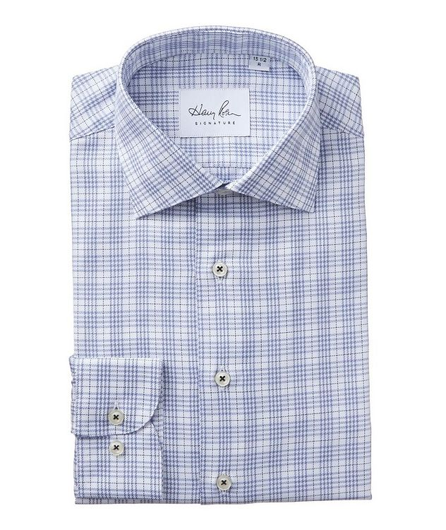 Windowpane-Checked Cotton Dress Shirt picture 1
