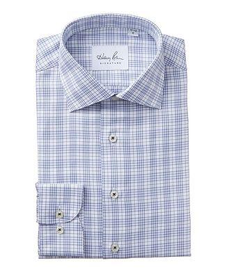 Harry Rosen Signature Windowpane-Checked Cotton Dress Shirt