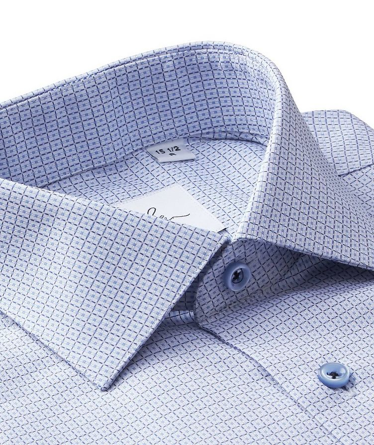 Checked Cotton Dress Shirt image 1