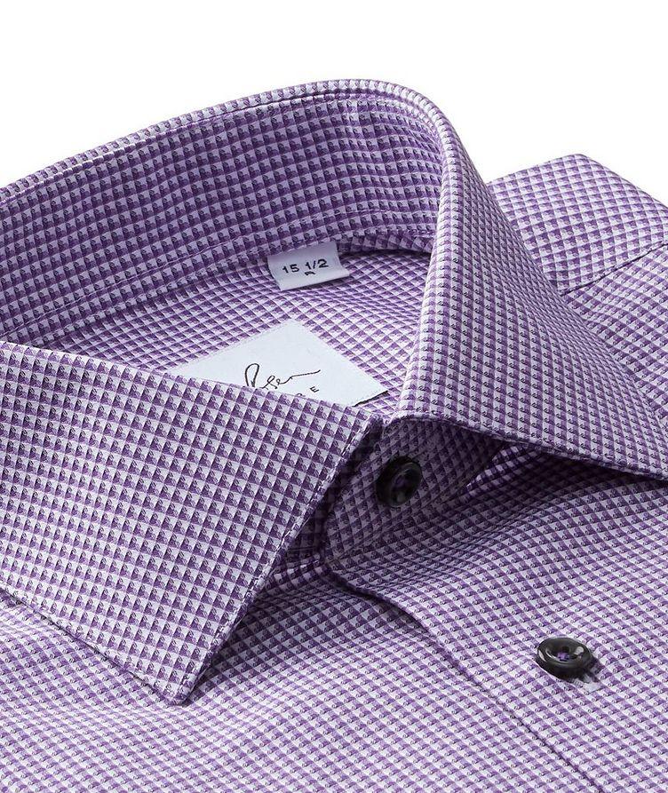 Grid-Checked Cotton Dress Shirt image 1