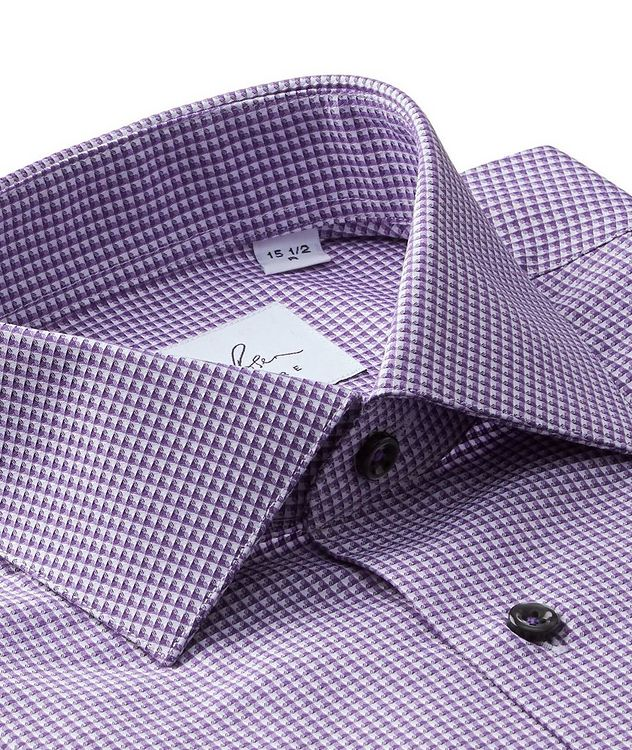Grid-Checked Cotton Dress Shirt picture 2