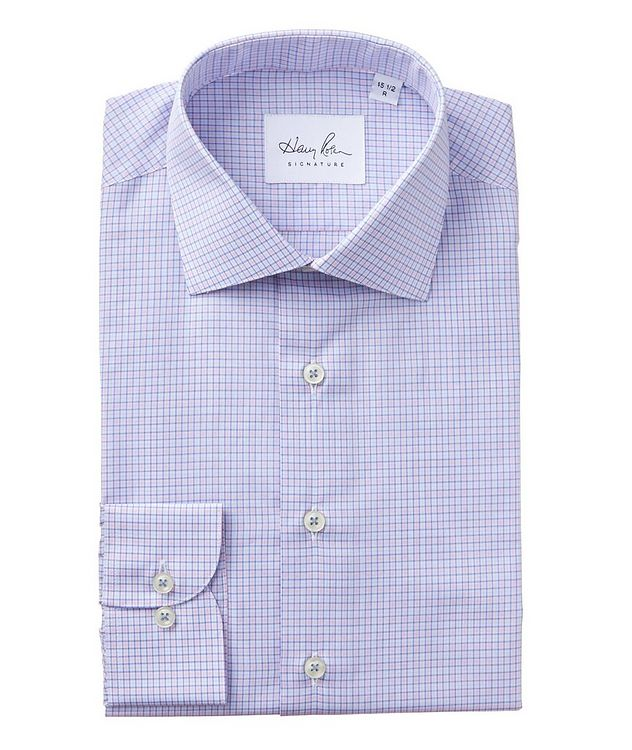 Checked Cotton Dress Shirt picture 1