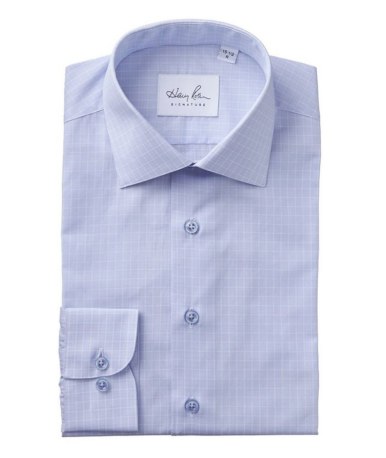 Checked Cotton Dress Shirt image 0