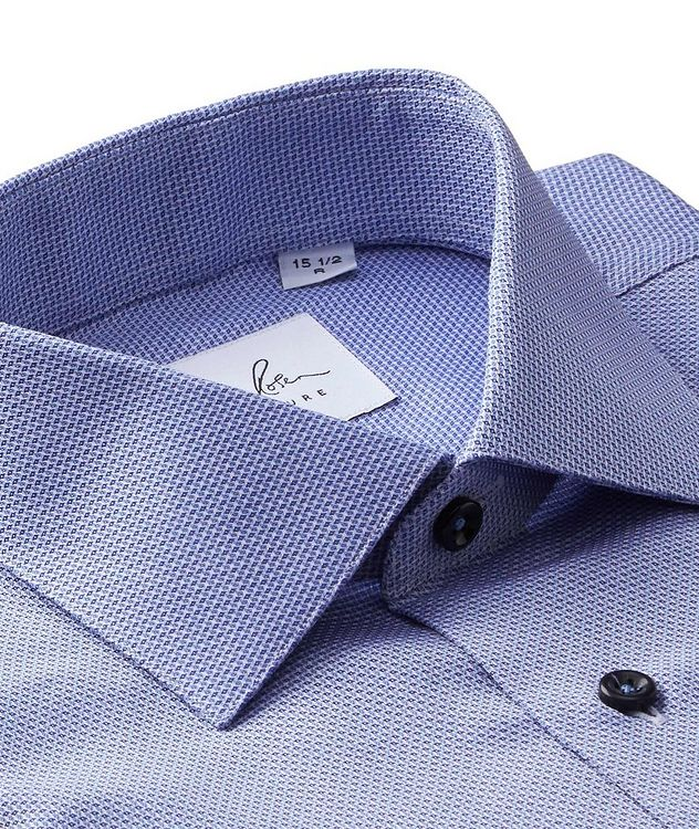 Dobby-Printed Cotton Dress Shirt picture 2