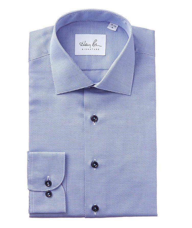 Dobby-Printed Cotton Dress Shirt image 0