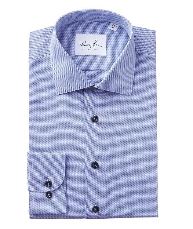 Dobby-Printed Cotton Dress Shirt picture 1