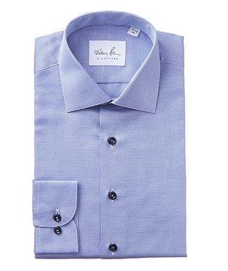 Harry Rosen Signature Dobby-Printed Cotton Dress Shirt