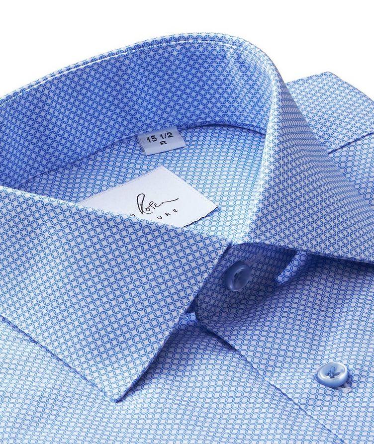 Geometric-Printed Cotton Dress Shirt image 1