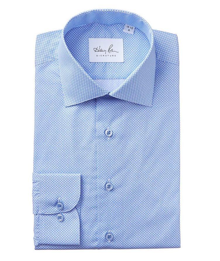 Geometric-Printed Cotton Dress Shirt image 0