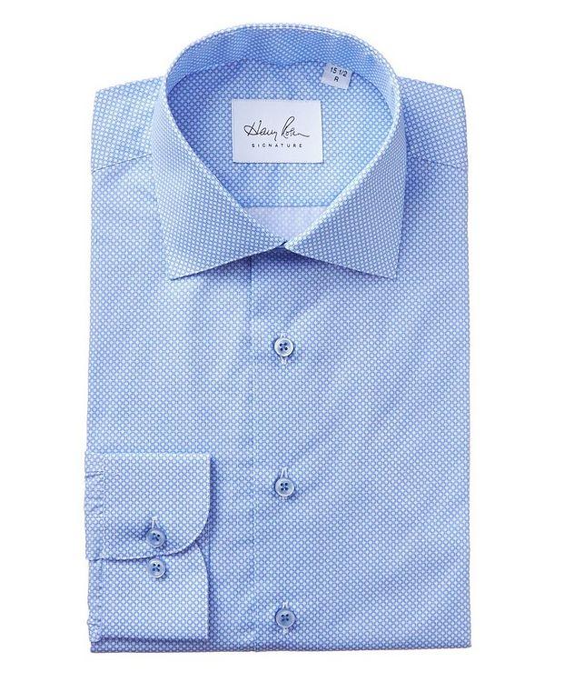 Geometric-Printed Cotton Dress Shirt picture 1