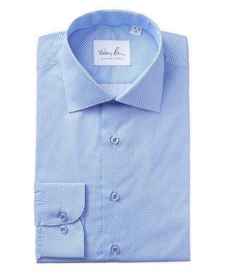 Harry Rosen Signature Geometric-Printed Cotton Dress Shirt
