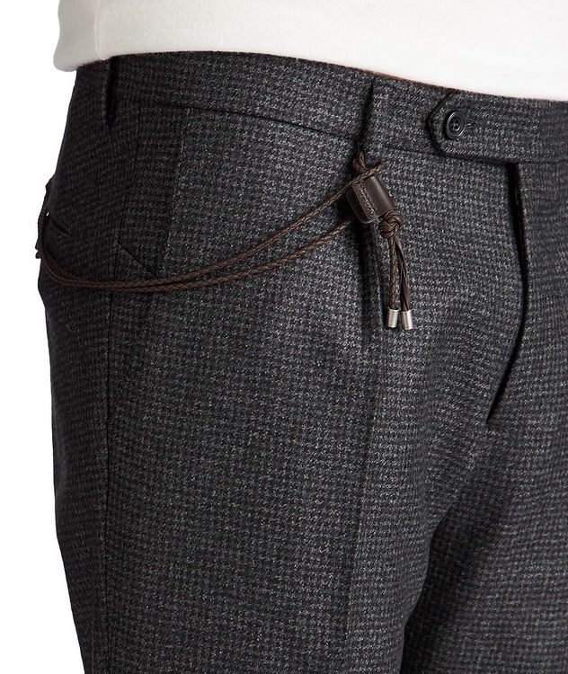 Slim Fit Houndstooth Dress Pants picture 3