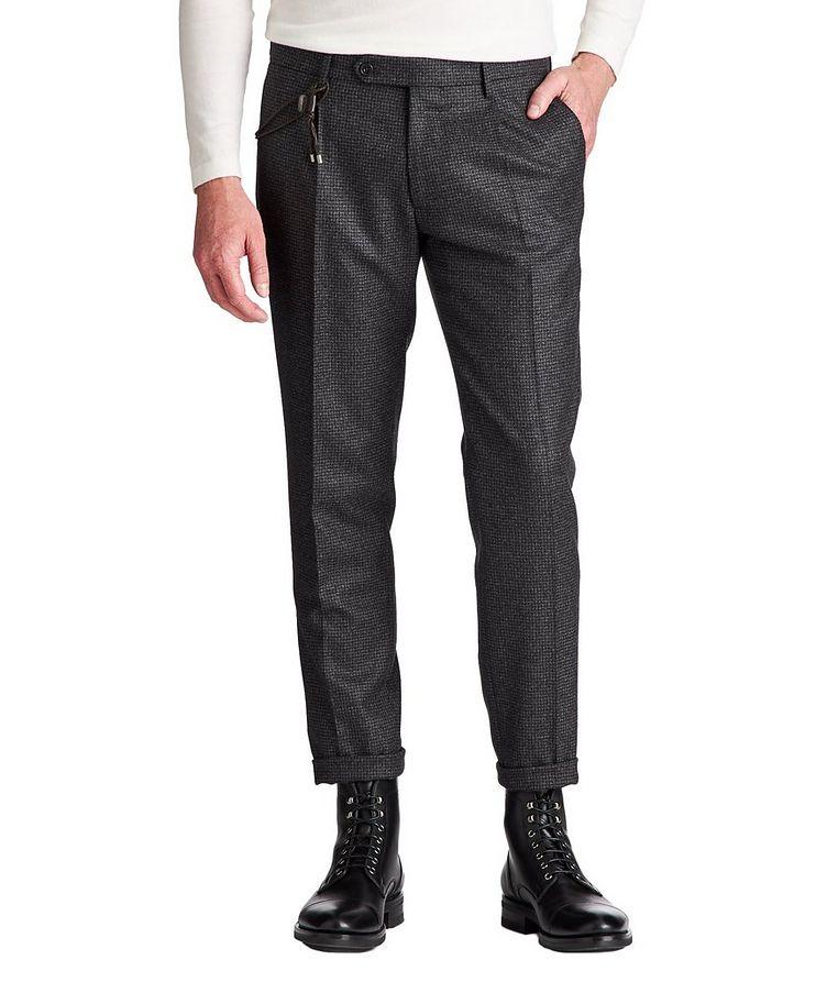 Slim Fit Houndstooth Dress Pants image 0