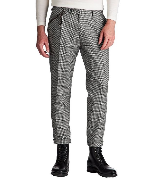 Slim Fit Houndstooth Dress Pants picture 1