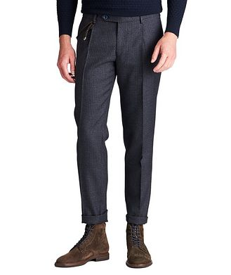 Berwich Slim Fit Checked Dress Pants