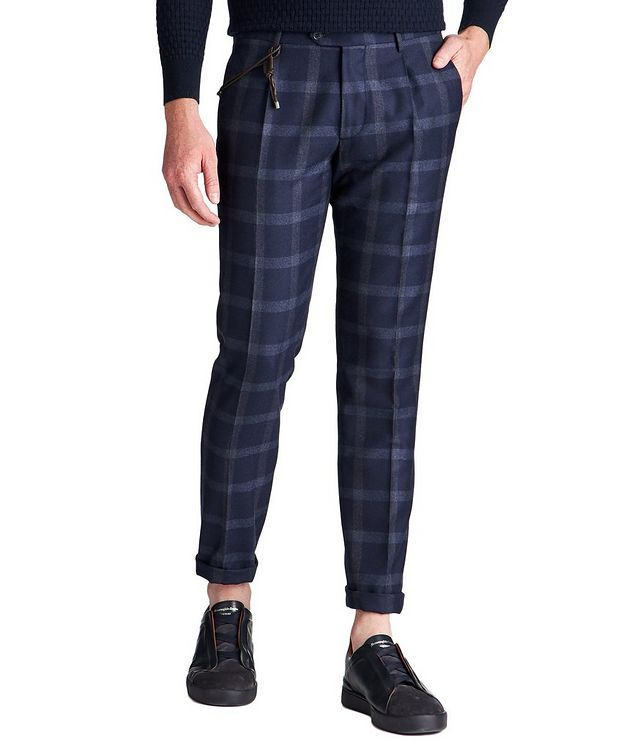 Slim Fit Windowpane Dress Pants picture 1
