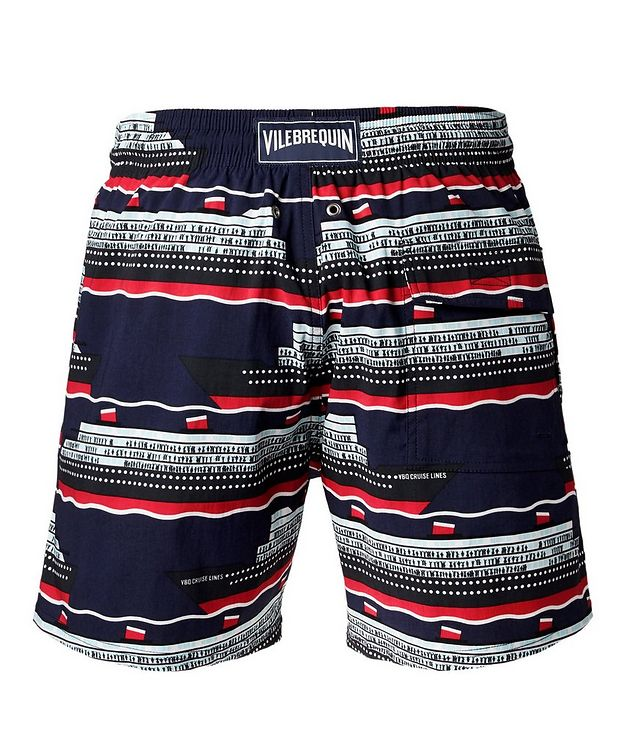 Cruise Ship-Printed Swim Trunks picture 2