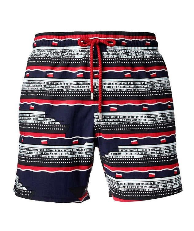 Cruise Ship-Printed Swim Trunks picture 1