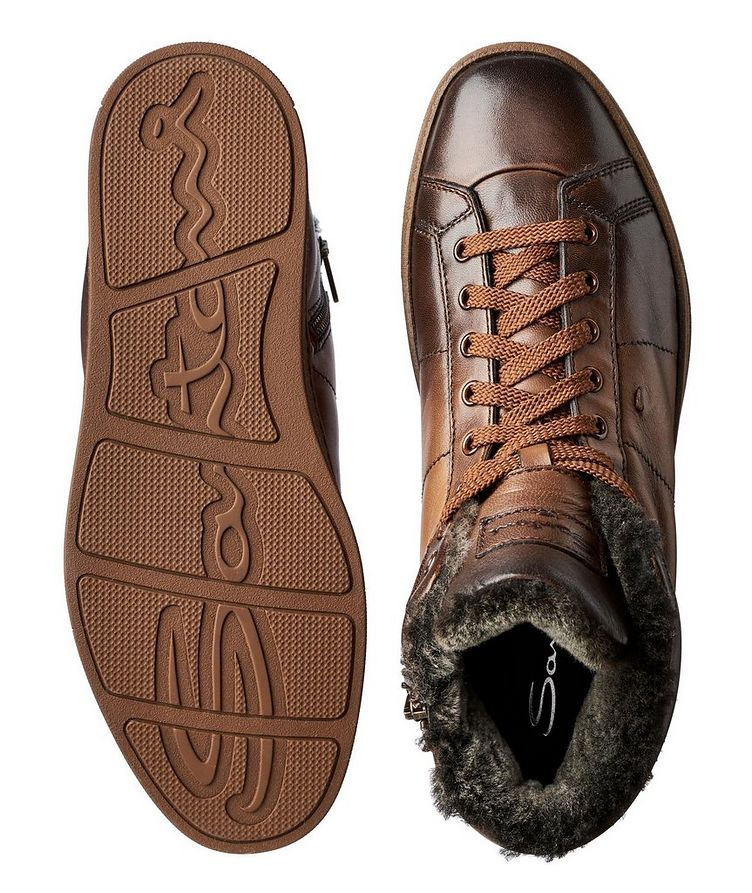 Burnished Fur-Lined Soft Sneakers image 2