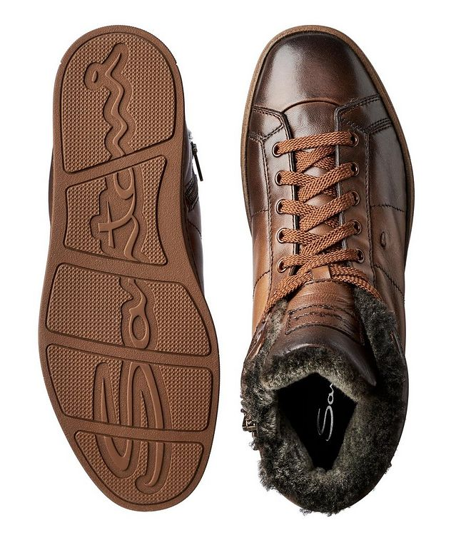 Burnished Fur-Lined Soft Sneakers picture 3