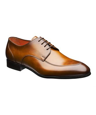 Santoni Simon Burnished Leather Derbies