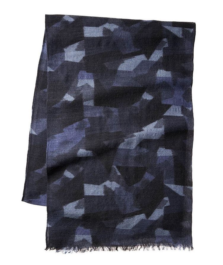 Camouflage Wool-Blend Scarf image 0