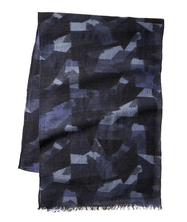 Camouflage Wool-Blend Scarf picture 1