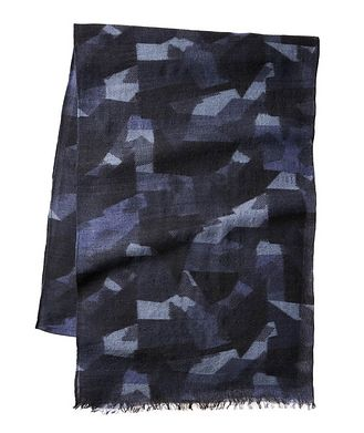 Harry Rosen Camouflage Wool-Blend Scarf