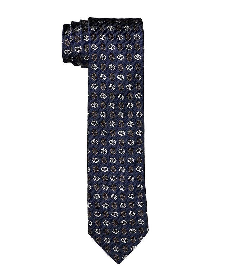 Cravate imprimée en soie image 0