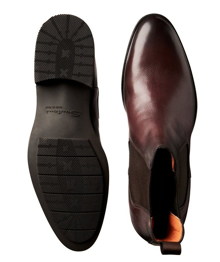 Burnished Leather Chelsea Boots image 2